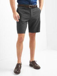 "Gap Mens Classic Linen-Cotton Shorts (10"") Moonless Night"