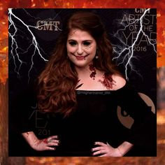 Spooooooooky! Yesterday was literally such a good day, and today has been too. It's awesome how wonderful people can be. ❤️ Happy Saturday! ☕️ @meghan_trainor #meghantrainor #halloween #blood #fall #autumn #spooky #creepy