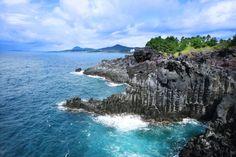 Columnar Joint, Island by Velfarre on Jeju Island, Korea, Water, Outdoor, Gripe Water, Outdoors, Outdoor Games, The Great Outdoors, Korean