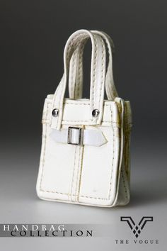 HB2003-08 The Vogue White Leather Designer Hobo Handbag