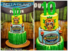 Survivor themed cake! Daydreaming and Sightseeing: Survivor Party- Bella turns 10