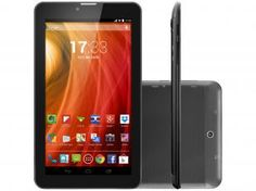 "Tablet Multilaser NB217 8GB Tela 7"" 3G Wi-Fi - Android 4.4 Proc. Dual Core Câm. 2MP + Frontal"