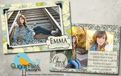 Graduation Announcement Templates  by SugarfliesDesigns on Etsy, $8.00