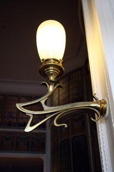 Beautiful Art Nouveau light in the Musée des Beaux Arts Brussels