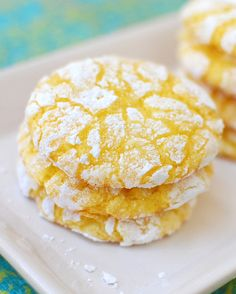 Lemon Burst Cake Mix Cookies. A fun recipe to make with your kids...