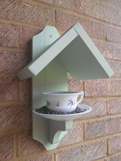 Tea Cup Bird Feeder - Vintage Cup and Saucer