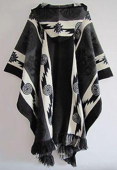 Llama Poncho Hood Wool Unisex Jacket Cape Indigenous Native Navajo Hopi Ecuador in Clothing, Shoes & Accessories, Men, Men's Clothing, Coats & Jackets Ecuador, Women's Capes & Ponchos, Navajo, Bohemian Style Men, Revival Clothing, The Right Man, Cape Coat, Jacket Style, Unisex