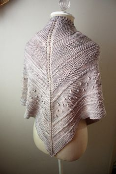 Shawl Knitting Pattern / Chunky Textured Knit / by phydeauxdesigns