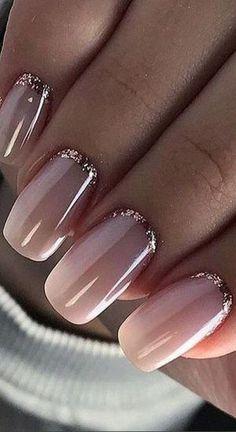 Light Colored Nails, Light Nails, Gorgeous Nails, Pretty Nails, Pretty Toes, Nagellack Trends, Pink Nail Polish, Nail Nail, Nail Pink