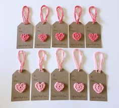 Crochet Heart Gift Tags, Gifted with Love, Handmade (Set of - Church gifts - Crochet Heart Gift Tags, Gifted with Love, Handmade (Set of Unique Gifts For Girls, Gifts For Teens, Handmade Gift Tags, Crochet Gifts, Girl Gifts, Paper Crafts, Gift Wrapping, Valentines, Etsy