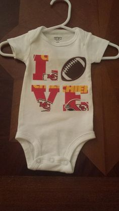 Kansas city chiefs inspired football outfit for by diapersnthings1 custom made love onesie kansas city chiefs by creationsbykrystalw 1200 negle Choice Image