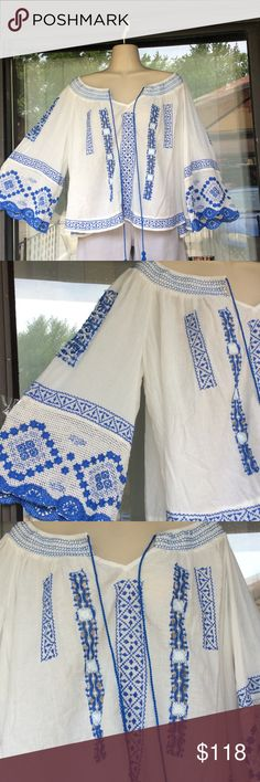 Free people prism gauze  spring top HOST PICK 9/20 Simply stunning,oversized Free People Tops