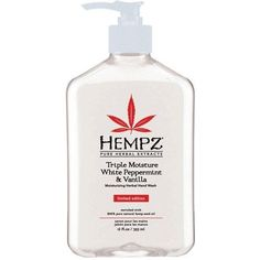 Hempz Triple Moisture White Peppermint and Vanilla Moisturizing Herbal Hand Wash, 12 oz >>> Unbelievable item right here! Herbal Extracts, Seed Oil, Hand Washing, Body Lotion, Shea Butter, Peppermint, Vodka Bottle, Herbalism, Moisturizer
