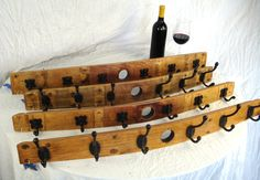 Wine Barrel Coat Rack   made from Napa by winecountrycraftsman, $70.00