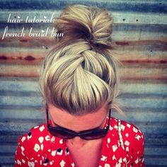 french #braid #bun.