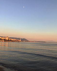 Tramonto lungomare di Salerno