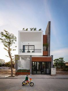 Narrow House Designs, Modern Small House Design, Minimalist House Design, Home Building Design, Building A House, Townhouse Designs, Village House Design, House Elevation, Australian Homes