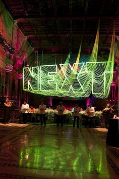 Flourescent Green Tape  Behind the Scenes: Installing the American Friends of Israel Museum Gala
