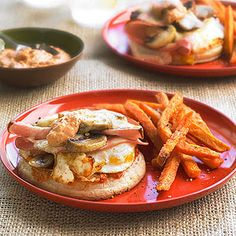Fried Egg and Mushroom Sandwiches with Mortadella From Better Homes and Gardens, ideas and improvement projects for your home and garden plus recipes and entertaining ideas.