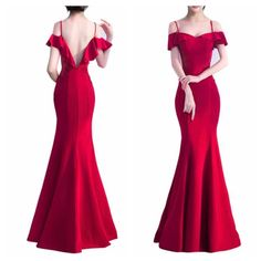 Vestido Bridesmade Dresses, Red Bridesmaid Dresses, Party Gowns, Party Dress, Gala Dresses, Formal Dresses, Pretty Dresses, Beautiful Dresses, Burgundy Evening Dress
