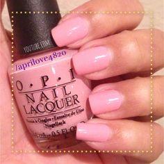Opi nail polish swatch #nails #nail polish #opi #pink nails #nail polish swatch #nail polish swatches
