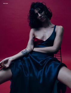 Phenomenal Woman, That's Me i-D Fall 2015 Photographer: Josh Olins Stylist: Alastair McKimm Set Designer: Kadu Lennox Model: Conie Vallese