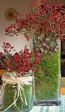 ♆ Blissful Bouquets ♆ gorgeous wedding bouquets, flower arrangements & floral centerpieces - berry bouquets for christmas Fall Crafts, Diy And Crafts, Christmas Crafts, Christmas Decorations, Xmas, Christmas Centerpieces, Christmas Ornaments, Table Decorations, Deco Nature