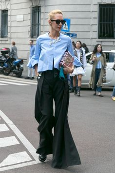 On the street at Milan Fashion Week. Photo: Emily Malan/Fashionista