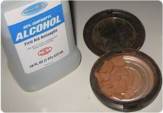 Fix your broken pressed powders with alcohol, brilliant!