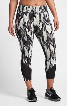 Plus Size Nike Power Epic Lux Running Crops - Plus Size Activewear
