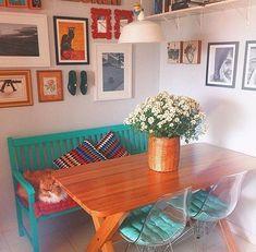 Small Apartment Decorating, Interior Decorating, Interior Design, Hippie House, Craft Room Design, Dream Decor, Dream Rooms, House Rooms, Living Room Bedroom