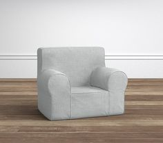 Washed Grainsack Light Gray My First Anywhere Chair® Slipcover Only