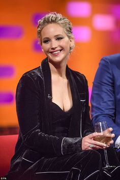 Mustard and tuna: Jennifer Lawrence told Graham Norton on Friay that her Hunger Games co-stars fared worst when it came to her preparation for kissing scenes