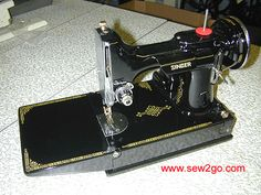 sew2go Featherweight 221 Paint Restoration - how to repaint a vintage Singer sewing machine!