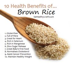 The Health Benefits of Brown Rice | Eating Healthy & Living Fit - EatHealthyLiveFit.com