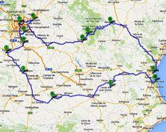 Routekaart Midden Spanje