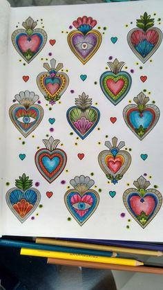 Mexican Crafts, Mexican Folk Art, Painting Inspiration, Art Inspo, Hamsa Art, Tin Art, Doodle Drawings, Heart Art, Love Art
