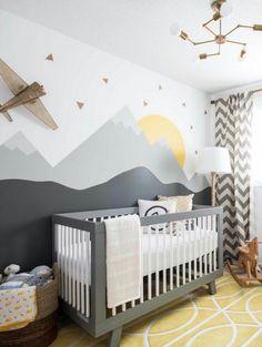 Chambre de bébé // 1 : Faites entrer le soleil ! // Chambre montagne grise et jaune // Butterfly Cocoon