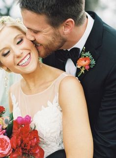 So much joy: http://www.stylemepretty.com/2015/06/02/colorful-boho-glam-texas-hill-country-wedding/ | Photography: Brett Heidebrecht - http://brettheidebrecht.com/
