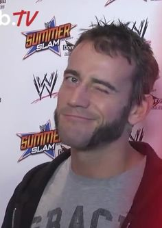I caught this at the right moment Cm Punk Aj Lee, April Brooks, Best Wrestlers, Wwe Tna, Sideburns, Secret Love, Wwe Superstars, Werewolf, Sexy Men
