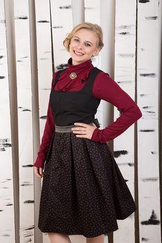 """Knielange Kleider - Kleid """"Christa"""" schwarz - ein Designerstück von Bergluft bei DaWanda Designer, Etsy, Vintage, Style, Fashion, Knee Length Dresses, Dresses For Women, Black, Moda"""