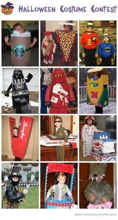 Homemade Costumes for Boys - this website has tons of DIY costume ideas!