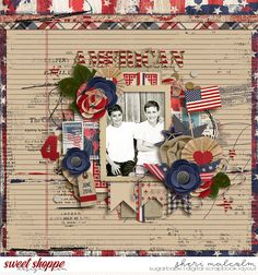 Digital scrapbook page by SeattleSheri using 4th Of July kit by Studio Basic