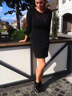 Black Waggon dress Spazio Moda croco black boots