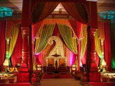 Red color scheme of Indian Wedding Mandap