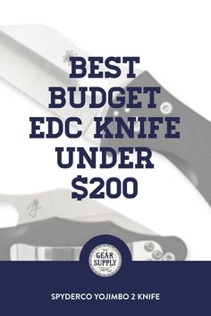 In need of the best budget EDC knife under $200 for your kits? Try the Spyderco Yojimbo 2 Knife with G-10 handle for your urban everyday carry gear. Take advantage of this money-saving deal on everyday carry premium pocket knives while supplies last! Explore top-rated budget-friendly compact lightweight utility knives and other essential EDC gear at affordable prices from Gear Supply Company. #everydaycarry #edcknives #pocketknives #urbaneverydaycarry Edc Fixed Blade Knife, Edc Knife, What Is Edc, Edc Carry, Prepper Supplies, Edc Essentials, Urban Edc, Everyday Carry Items, Edc Bag
