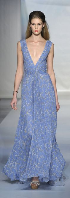 Would love to have a reason to wear this. Luisa Beccaria S/S 2014