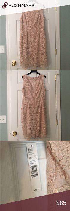 Antonio Melani Joy Dress NWT! Never worn. Size 10 Antonio Melani Joy Dress Petal Pink Color: Champagne Soiree ANTONIO MELANI Dresses