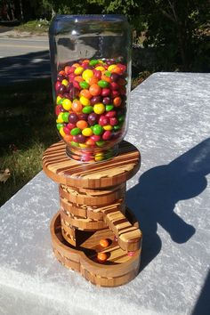 Wooden Candy Dispenser by McQueenWoodcrafts on Etsy