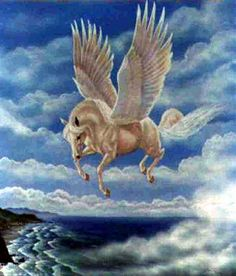 peagsus.  one of the best known mythological creatures in Greek mythology